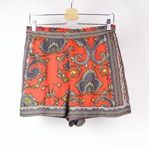 Nicole Shorts Lounge Paisley Size Medium